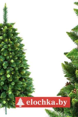 Ель искусственная Хрустальная Зелёная 100 см